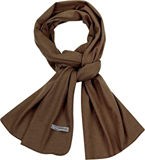 """PuTian 100% Mens Scarves Large Merino Wool Scarf Pashmina for Men Knitted Soft Warm Neckwear with Gift Boxes 72 X 17"""""""