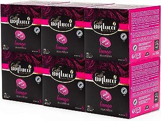 Caffè Bellucci - Café Lungo x96 - 6 Boîtes de 16 capsules compatibles Dolce Gusto® - Doux et léger