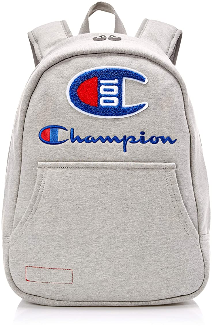 Champion Men's 100 Year Hoodie Backpack, Medium Gray, One Size
