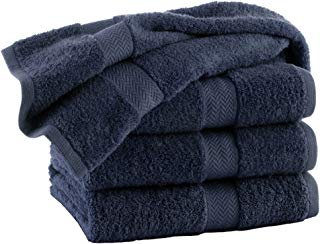 HomeLabels Premium Soft 100% Cotton 4 Pack Charcoal Bath Towels, 27 x 54, Hotel Spa Gym Pool Yoga, Lightweight Soft Absorbent Quick Drying - Multipurpose Combed Cotton Bath Towel Set
