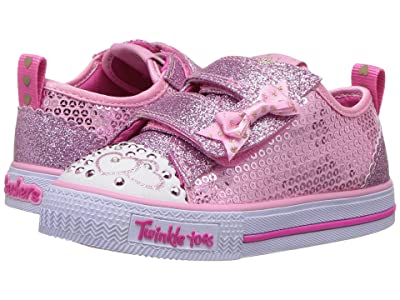 SKECHERS KIDS Twinkle Toes Shuffles Itsy Bitsy 10764N Lights (Toddler/Little Kid) (Pink) Girl