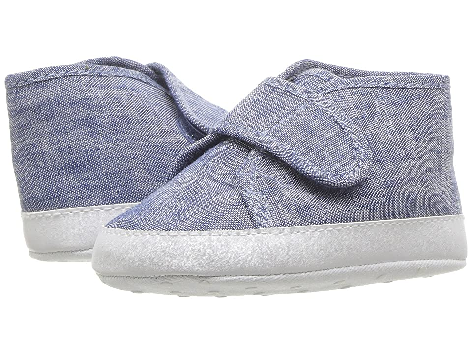 Janie and Jack Hook-and-loop Chambray Sneaker (Infant) (Chambray) Boy