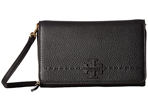 d090852acaba Tory Burch McGraw Flat Wallet Crossbody at Zappos.com
