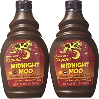 Trader Joe's Organic Midnight Moo Chocolate Flavored Syrup,20 Oz, 2 Pack
