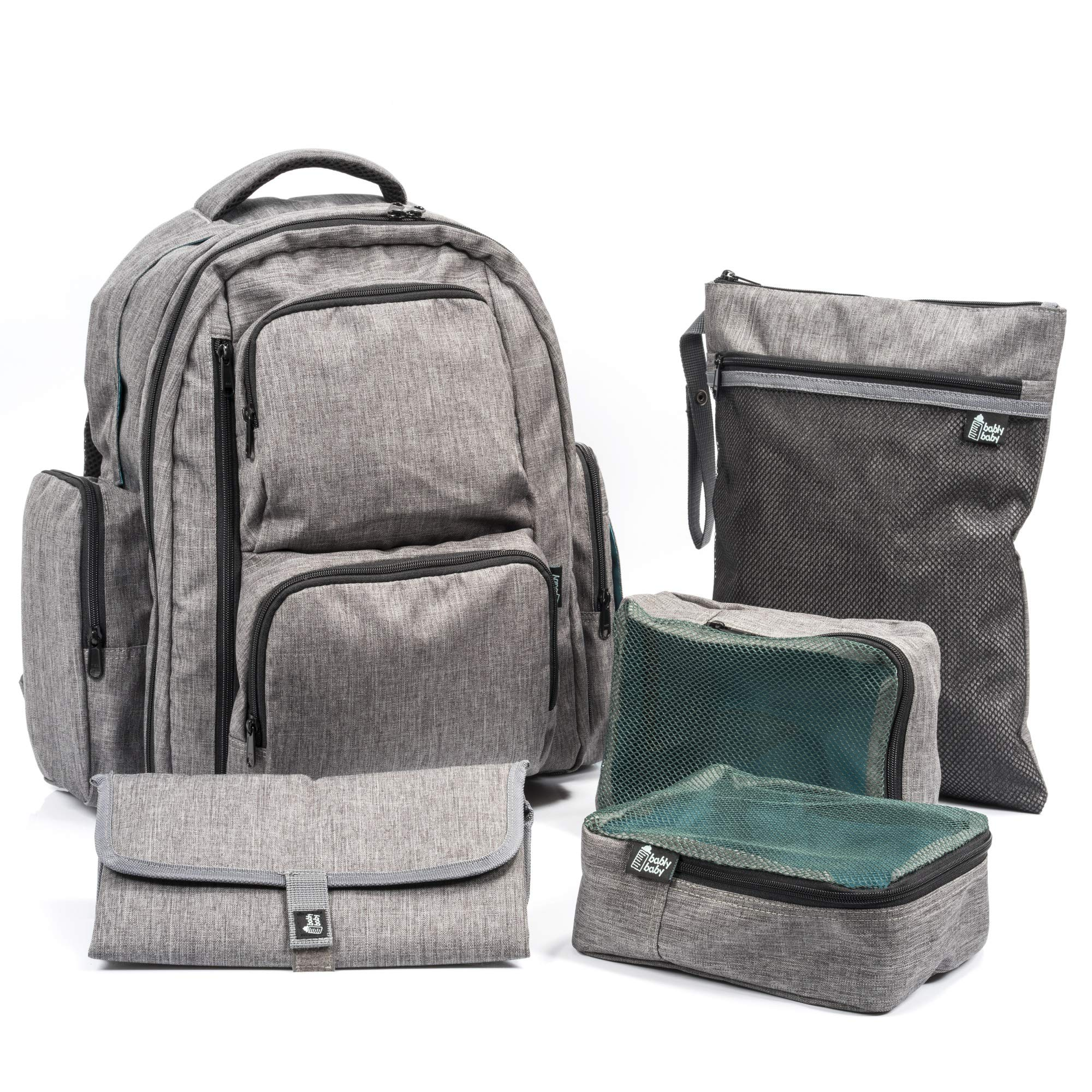Capacity Backpack Changing Stroller Bably