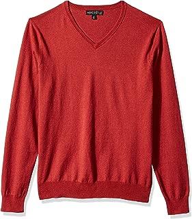 Men's Long-Sleeve Cotton V-Neck Sweater