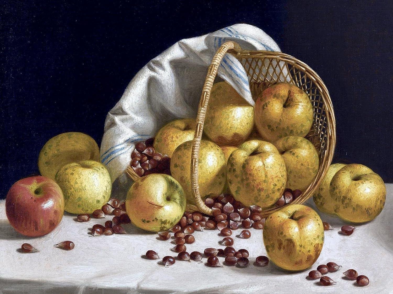 Apples by Eloise Harriet Stannard Fruit jug Basket Accent Tile Mural Kitchen Bathroom Wall Backsplash Behind Stove Range Sink Splashback One Tile 8x6 Ceramic Glossy