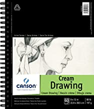 "Canson Artist Series Cream Drawing Pad 9"" x 12"", Side Wire Bound, 60 Sheets (400059729)"