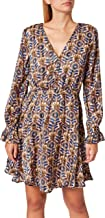 Scotch & Soda Printed long-sleeved mini-dress in Recycled Polyester dames jurk