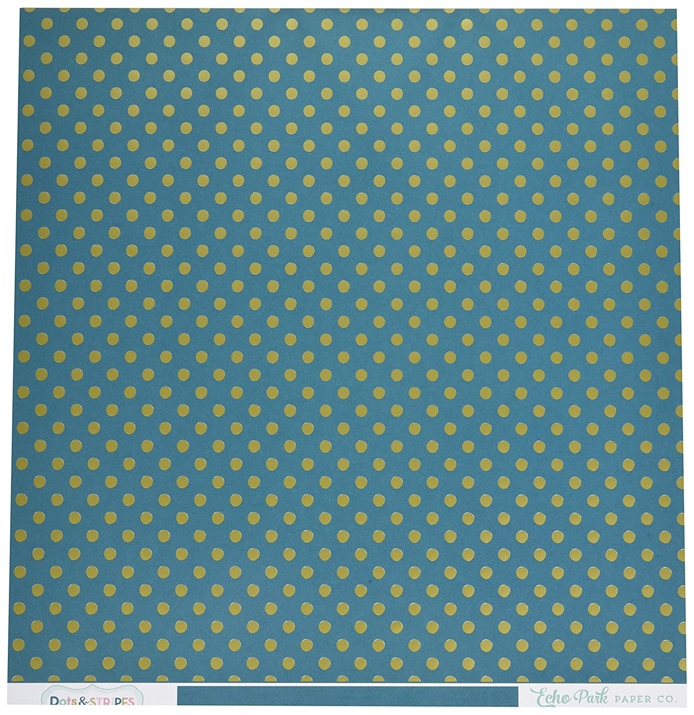 Echo Park Paper DS16004 Foiled Dots & Stripes Cardstock (15 Sheets Per Pack), 12