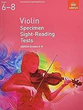 Violin Specimen Sight Reading Tests 6-8