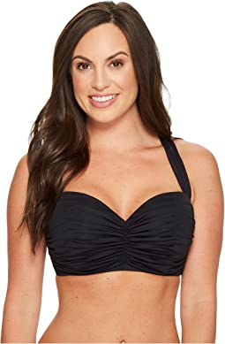 Bleu Rod Beattie - Kore Shirred Bandeau Bikini Top
