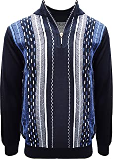 Men's Sweater, Vertical Dotted Line