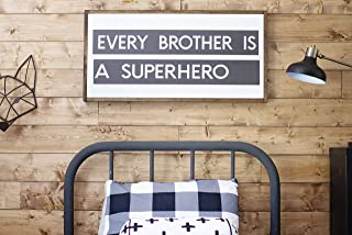 Framed Wood Sign Rustic Wooden Sign Every Brother is A Superhero Sign Childs Room Signs Kids Room Sign Boys Room Sign Boys Room 12 x 22 Inch Decorative Sign Home Decor