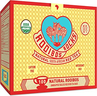 Rooibos Tea Immune Support Teabags - 100 USDA Organic Non GMO Naturally Caffeine Free South African Red Bush Herbal Tagles...