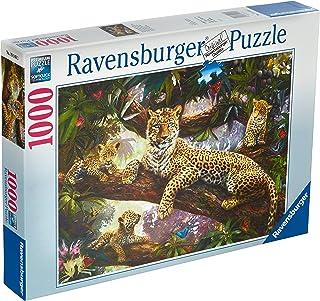 Ravensburger Leopard Family Puzzle 1000pc,Adult Puzzles