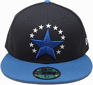 Stars New Era Custom Made 59Fifty Fitted Hat - Black, Flint' Blue, White