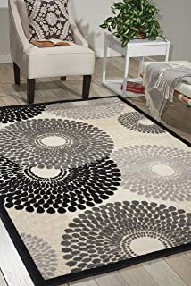 Nourison Graphic Illusions Parch Rectangle Area Rug, 5-Feet 3-Inches by 7-Feet 5-Inches (5'3