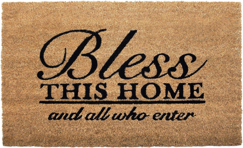 NIKKY HOME Coir Doormat Non Slip Mat Front Bless Word Door with Max Ranking TOP1 57% OFF