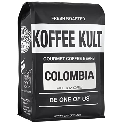 Koffee Kult Colombian Huila Fresh Coffee Beans - Whole Bean Coffee - Fresh Roasted (Whole Bean, 32oz)