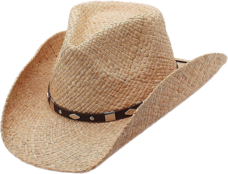 Raffia Straw Western Cowboy Summer Hat Canyon Sun Natur Silver Tulsa Mall Ranking integrated 1st place