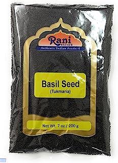 Rani Tukmaria (Natural Holy Basil Seeds) 7oz (200g) Used for Falooda / Sabja Dessert, Spice & Ayurveda Herbal ~ Gluten Fre...
