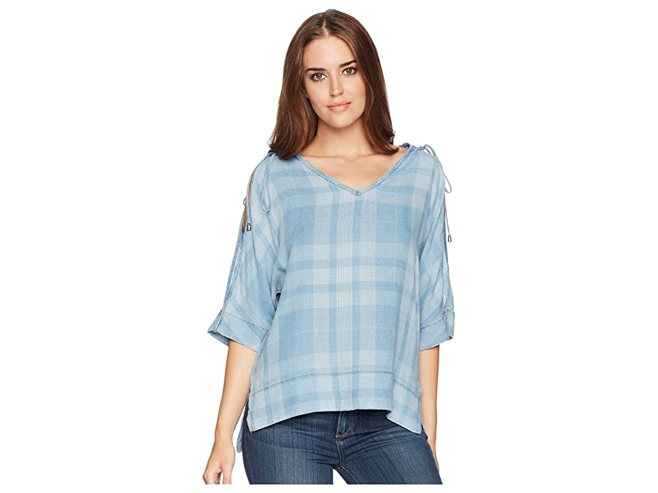 Liverpool Cold Shoulder Tie Shirt (Wavecrest Light) Women