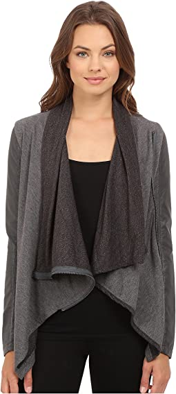 Blank NYC - Drape Front Jacket in French Grey