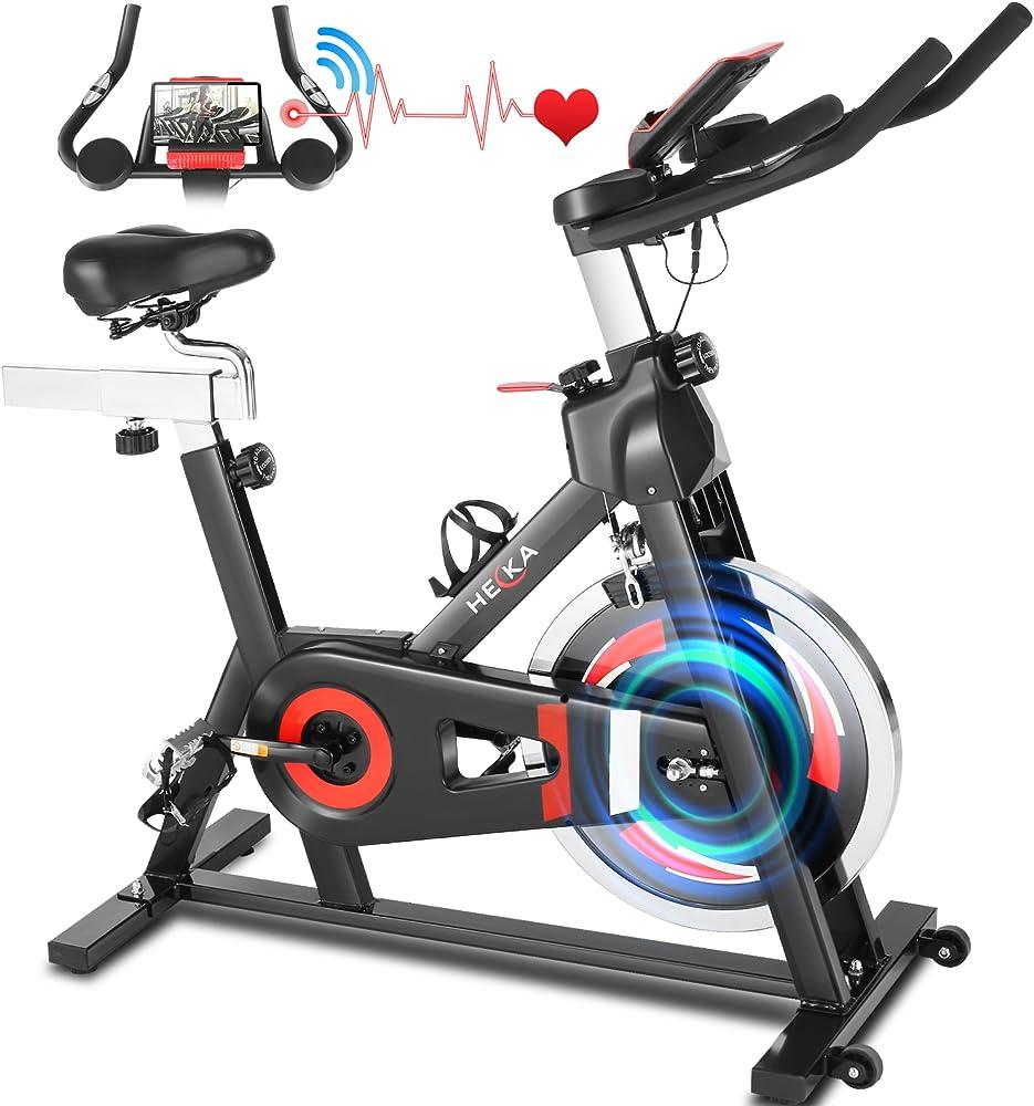 Heka, cyclette, bici da spinning,  monitor lcd