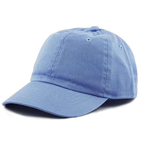 f375fa583c8d4 THE HAT DEPOT Kids Washed Low Profile Cotton and Denim Plain Baseball Cap  Hat