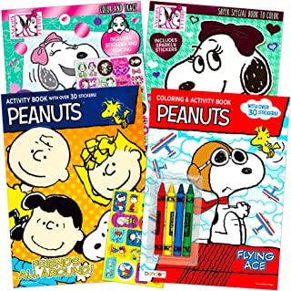 Peanuts Coloring and Activity Book Set -- 4 Coloring Books Featuring Snoopy, Charlie Brown and The Peanuts Gang (Peanuts P...