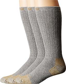 Full Cushion Steel Toe Cotton Work Boot Socks 2-Pack