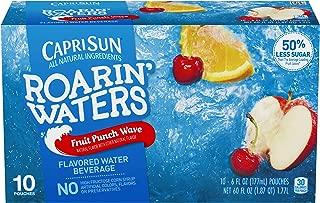 Capri Sun Roarin' Waters Fruit Punch Juice Drink (6 oz Pouches, 4 Boxes of 10)