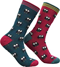 thought - Women's Blissfully Soft Owlie Bamboo Socks - Pack of 2 Pairs