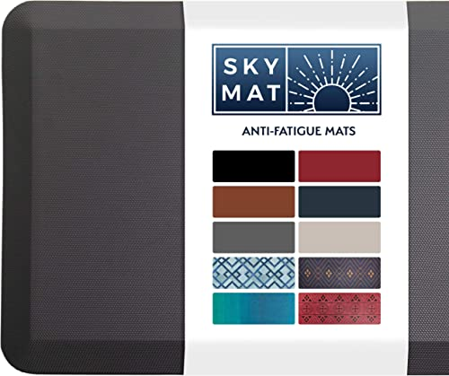 Sky Solutions Anti Fatigue Mat - Cushioned 3/4 Inch Comfort Floor Mats for Kitchen, Office & Garage - Padded Pad for ...