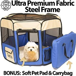 Adley Premium Pet Playpen with Washable Pad & Carry Bag - 52