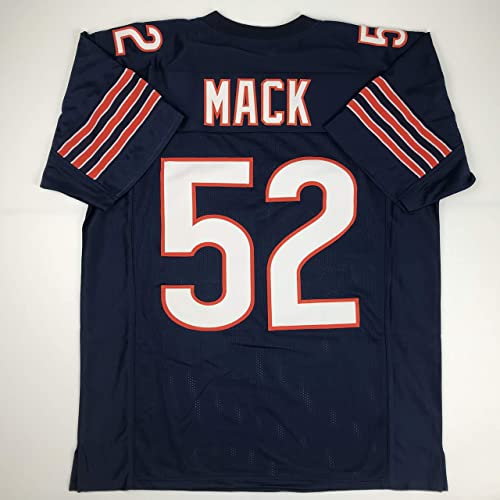 dae1f4aaa9b Unsigned Khalil Mack Chicago Blue Custom Stitched Football Jersey Size Men's  XL New No Brands/