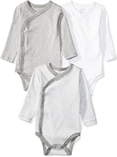 Moon and Back Baby Set of 3 Organic Long-Sleeve Side-Snap Bodysuits