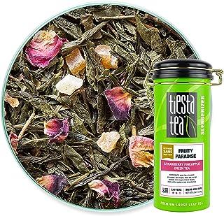 Tiesta Tea - Fruity Paradise, Loose Leaf Strawberry Pineapple Green Tea, Medium Caffeine, Hot & Iced Tea, 4 oz Tin - 50 Cu...