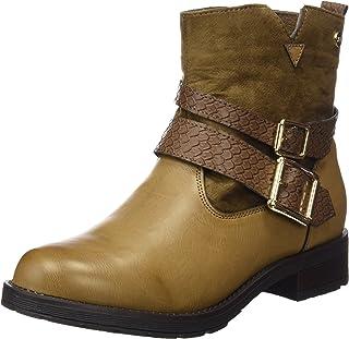 d2a05f88 XTI Botin Sra. C. Combinado Taupe, Zapatos de tacón con Punta Cerrada para