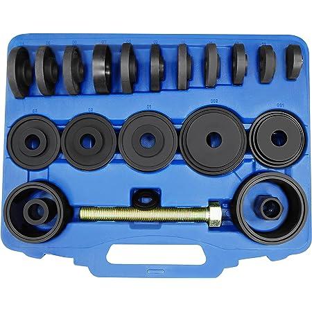 Astro Pneumatic Tool 78825 Kit adaptador de extracción e instalador de rodamientos de tracción de rueda delantera maestra de 25 piezas con perno de transmisión de grado 8