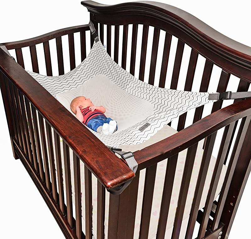 Infant Safety Hammock Bed Breathable Strong Material That Mimics The Mother S Womb For Baby While Reducing Newborn Environmental Risks Grey Ripple Pattern
