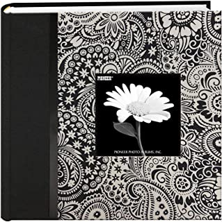 Pioneer DA-200CBFBW/L 200 Pocket Black and White Fabric Frame Cover Photo Album, Lana