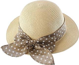 Connectyle Kids Summer Straw Hat Bowknot Beach Sun...