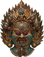 SHIVIKA Resin Crafted Lord Kaal Bhairav Wall Mount Hanging Sculpture, Multicolor