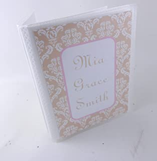 Damask Photo Album IA#479 Personalized Picture Book 4x6 or 5x7 Size