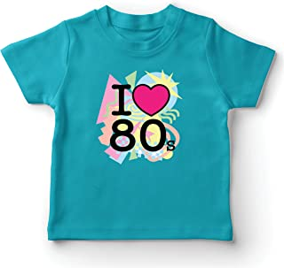 lepni.me Kids T-Shirt I Love 80s Old School Band Concert Clothing Music Merch