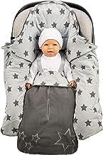 Lilly and Ben Einschlagdecke für die Übergangszeit - OEKO-TEX - Fuß-sack Baby-Decke für Babyschale Autositz Kinderwagen Buggy
