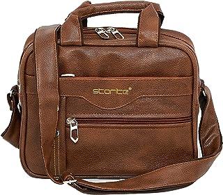 Storite Stylish PU Leather Sling Cross Body Travel Office Business Messenger One Side Shoulder Bag for Men Women (25 cm x ...