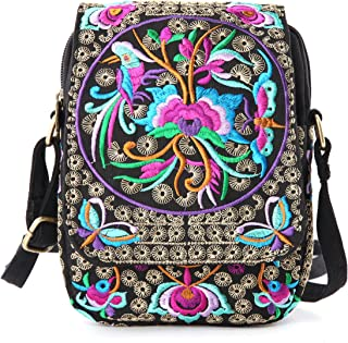 Vintage Small Travel Crossbody Bag for Women, Cell Phone Purse Wrist-let Handbag